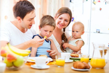 Healthy nutrition for children and teenagers